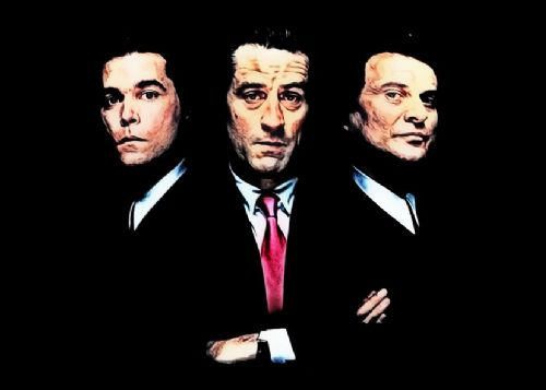1990's Movie - GOODFELLAS - PAINT BLACK canvas print - self adhesive poster - photo print